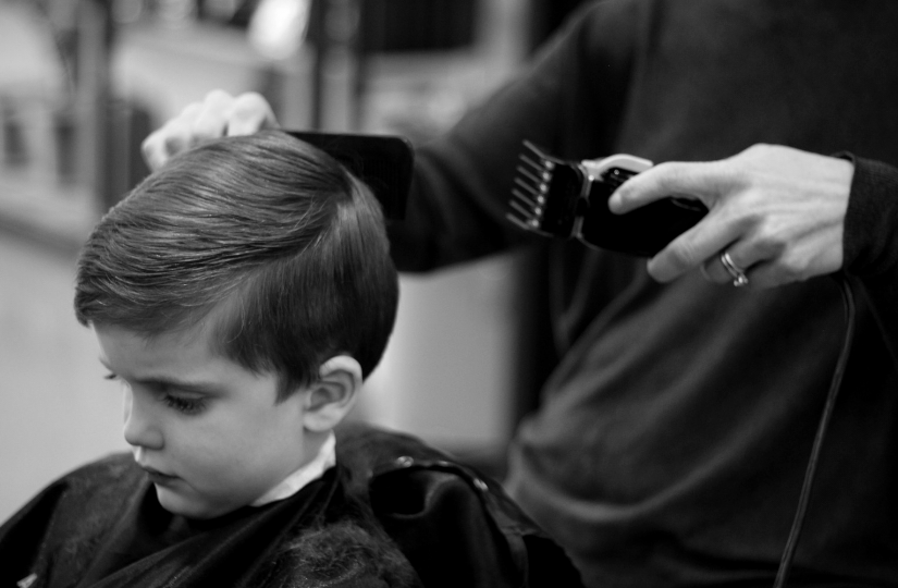 Barbershop kid haircut