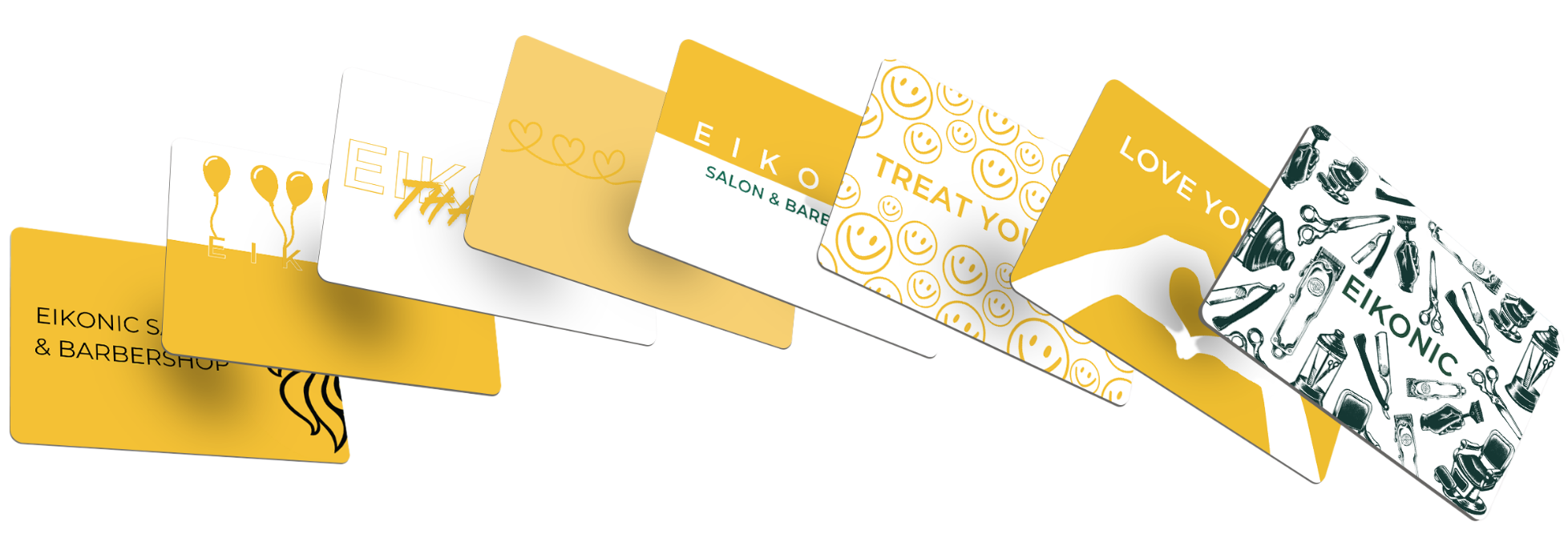 Salon service gift cards