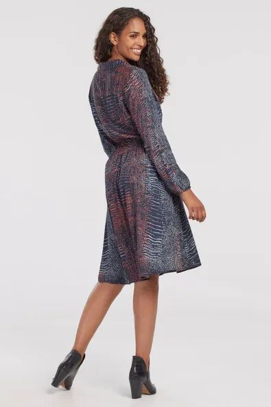 Julienne front tie dress