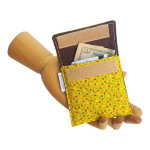 Mini Wallet - Vintage Yellow Floral