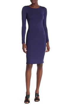 Live Wild - Long Sleeve Bodycon Midi Dress