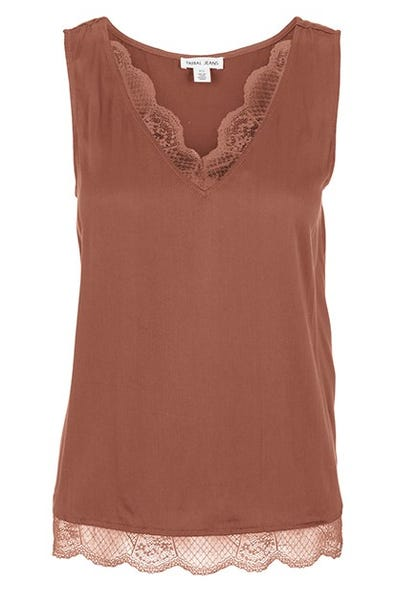 Camisole with lace trim