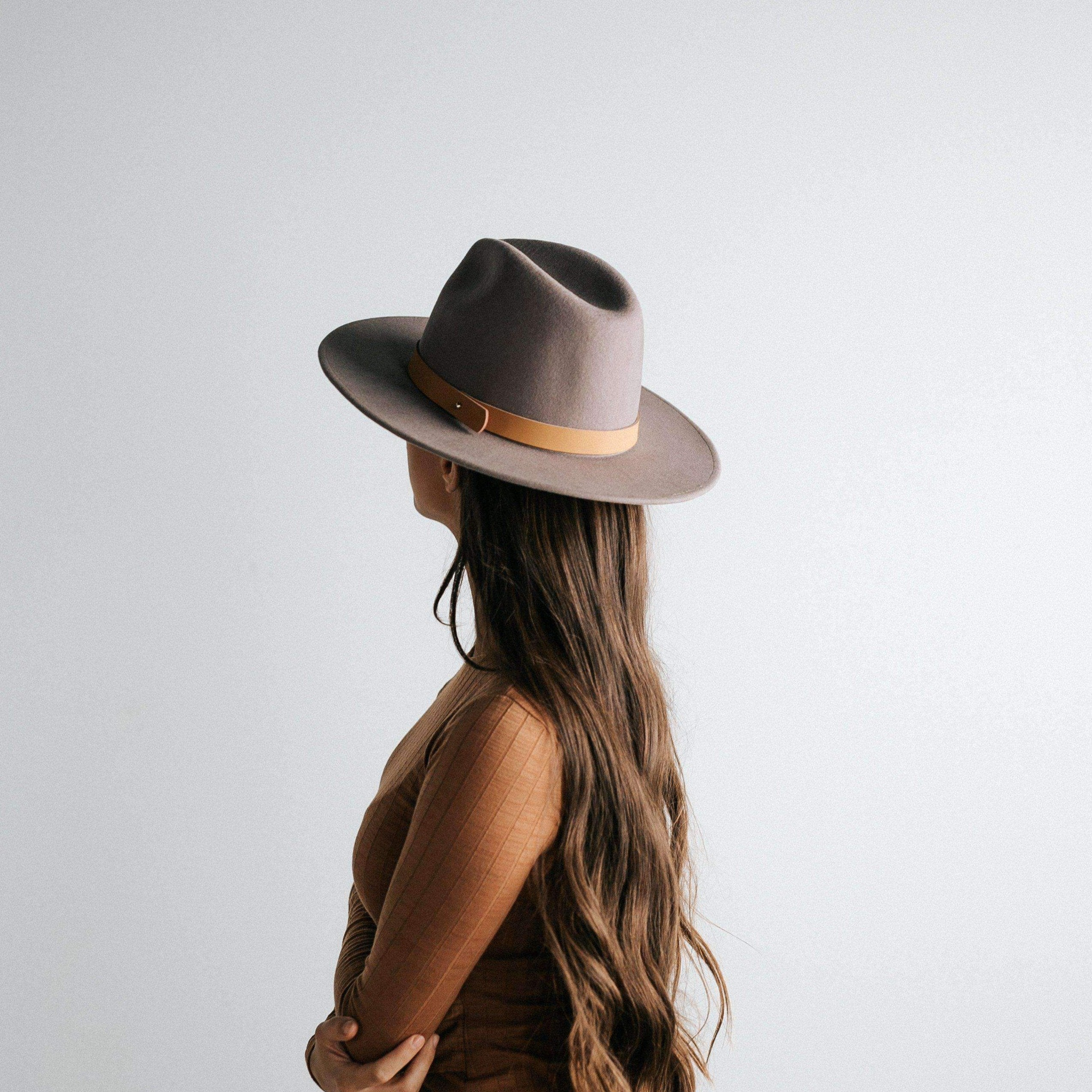 The Wesley - Fedora Hat - Light Grey