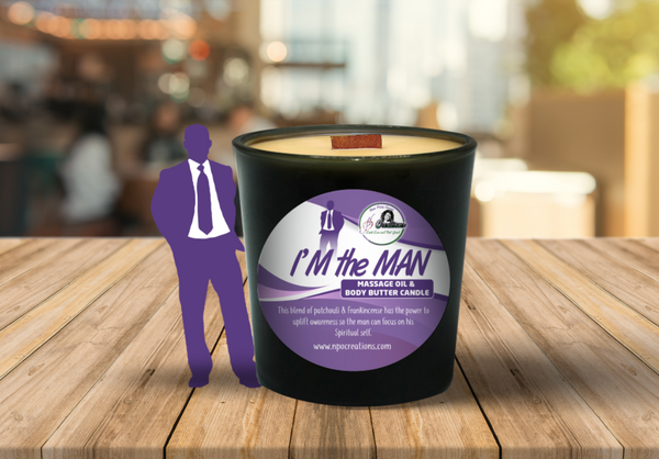 I'M THE MAN- MASSAGE OI/ BODY BUTTER CANDLE (6oz)