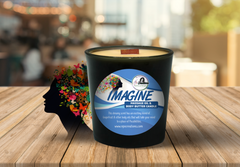 IMAGINE- MASSAGE OIL/BODY BUTTER CANDLE (6oz)