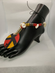 YELLOW, BLACK, RED BAREFOOT SANDAL