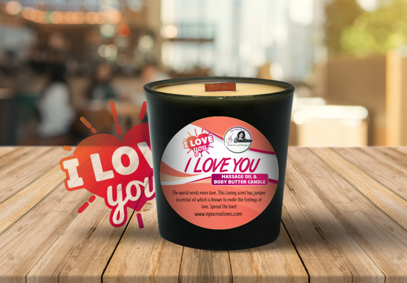 I LOVE YOU MASSAGE OIL CANDLE & BODY BUTTER (6oz)