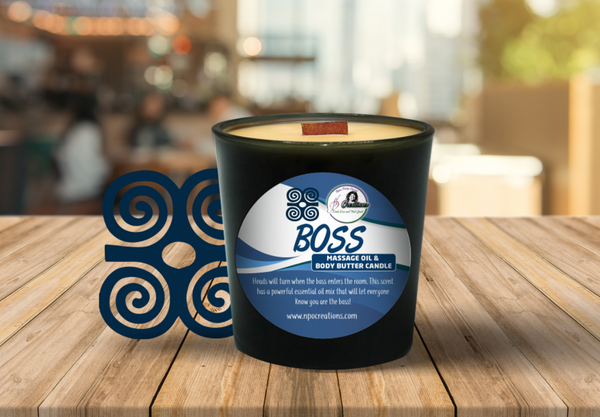 BOSS- MASSAGE OIL/BODY BUTTER CANDLE (6oz)