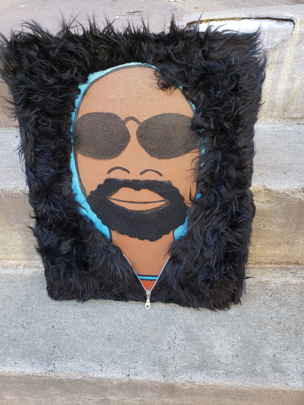 """COOL DUDE WITH FUR HOODIE"" CANVAS 16X20"