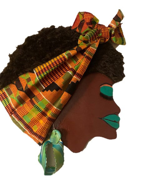 AFRO ANGELA (KENTE CLOTH HEADWRAP)