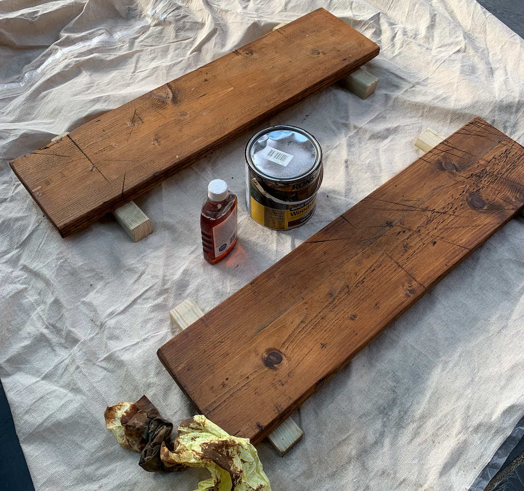 Woodstain wood how to make rustic shelving