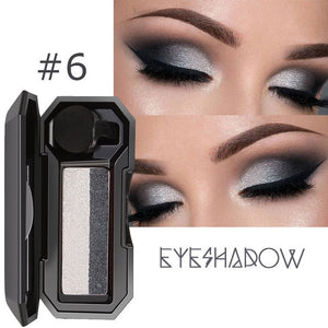 Two-tone lazy eye shadow