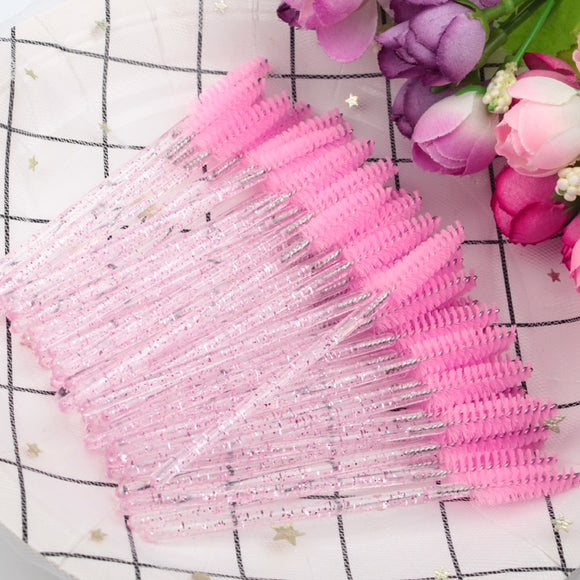 Crystal eyelash makeup brush