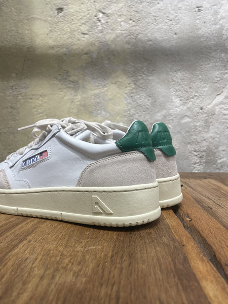 Autry 01 Low Man - Leather/Suede - White/Green