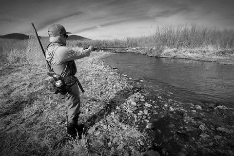 Fishing on the East Walker River in March for Trout