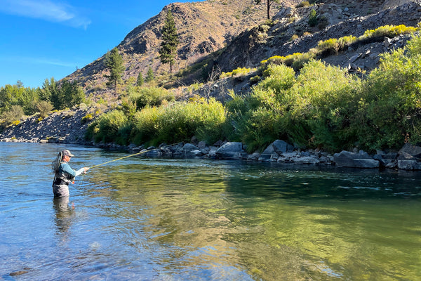 truckee river fly fishing with indicator near Floriston exit