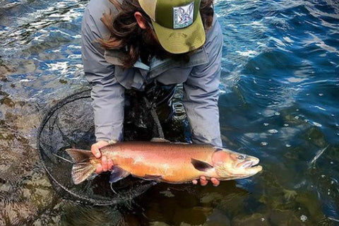 Miles Zimmerman at Pyramid Lake Lahontan Cutthroat Trout