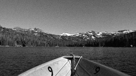 Old Donner Lake fishing boat