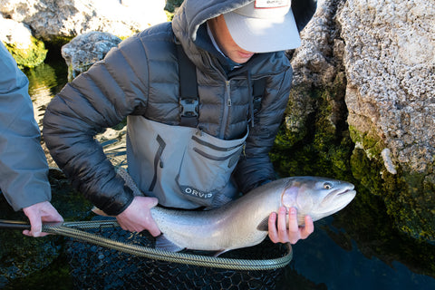 Pyramid Lake Fly Fishing Tyler Ferguson's first cutthroat trout January 2021