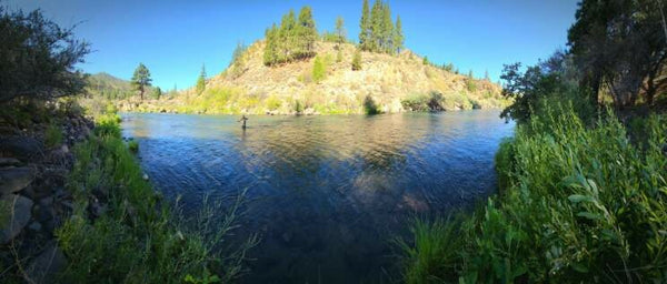 truckee river wide angle fly fishing