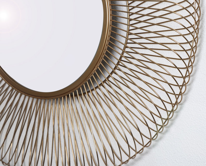 Juliet Sunburst Accent Mirror,Gold