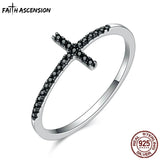 Certified 925 Silver Cross Ring