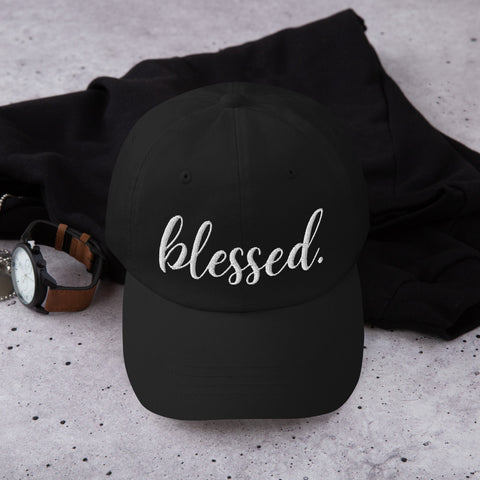 Blessed Embroidered Classic Hat (Dark)