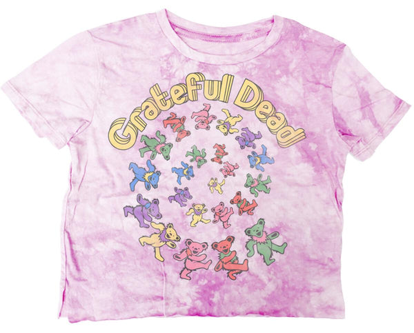 Rowdy Sprout Grateful Dead Bear Not Quite Crop Tee