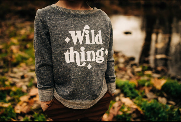 Wild Thing Navy Toddler Long Sleeve