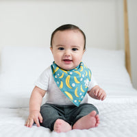 Copper Pearl Citrus Bandana Bib Set (4 pack)