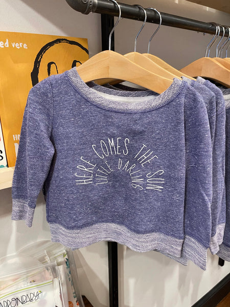 Here Comes The Sun Purple Toddler Long Sleeve
