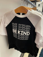 Peace Alley Youth Be Kind Baseball Raglan