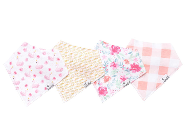 Copper Pearl June Bandana Bib Set (4 pack)