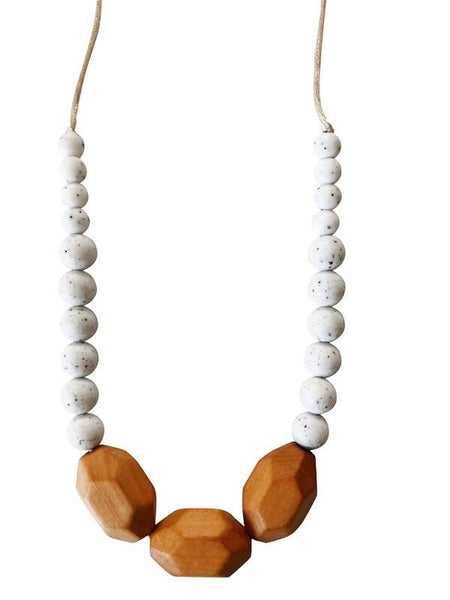 Chewable Charm Moonstone Teething Necklace- The Austin