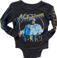 Rowdy Sprout Biggie Smalls Long Sleeve Bodysuit