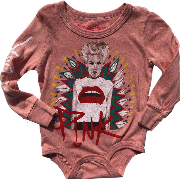 Rowdy Sprout P!nk Long Sleeve Bodysuit