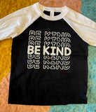 Peace Alley Toddler Be Kind Baseball Raglan