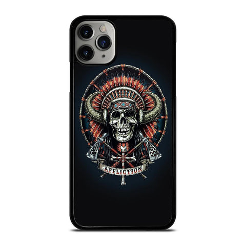 AFFLICTION INDIAN SKULL-iphone-11-pro-max-case-cover