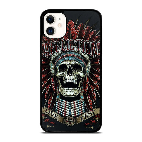 AFFLICTION SKULL INDIAN-iphone-11-case-cover