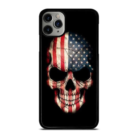 AMERICAN FLAG SKULL-iphone-11-pro-max-case-cover