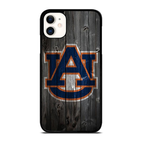 AUBURN TIGERS WOODEN LOGO-iphone-11-case-cover