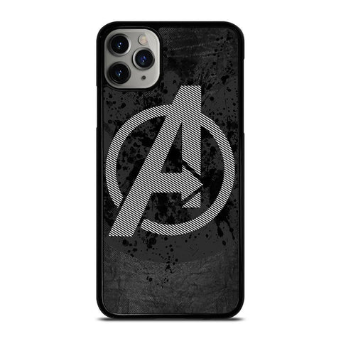 AVENGERS LOGO GRAY-iphone-11-pro-max-case-cover