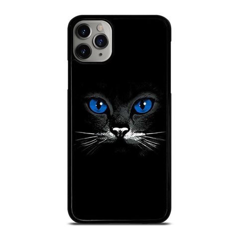 BLACK CAT FACE-iphone-11-pro-max-case-cover