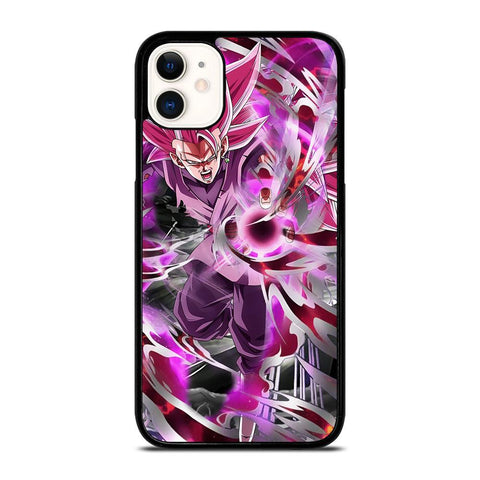 BLACK GOKU SUPER SAIYAN ROSE-iphone-11-case-cover