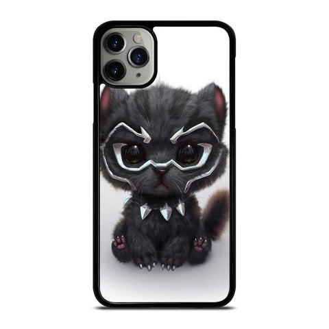 BLACK PANTHER CUTE CAT-iphone-11-pro-max-case-cover