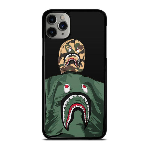 BLAISE TRAVIS HOODIE BAPE SHARK-iphone-11-pro-max-case-cover