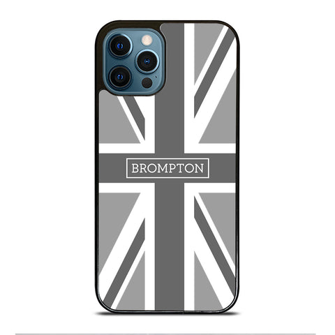 BROMPTON BIKE BRITISH BLACK WHITE iPhone Case Cover