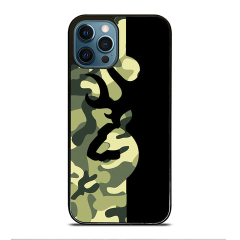 BROWNING  LOGO CAMO BLACK iPhone Case Cover