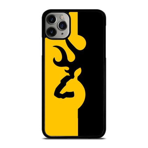 BROWNING LOGO BLACK YELLOW-iphone-11-pro-max-case-cover