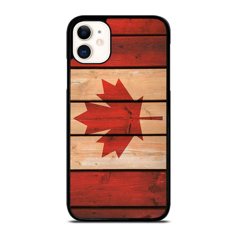 CANADA FLAG WOOD-iphone-11-case-cover